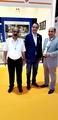 Mohamed Dekkak and Abderrahim Khaoutem with Driss Nokta President of Walili at Dubai Internation