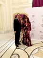 Mohamed Dekkak and Lorena Rivero (creative Director of LORRIVE) at the Royal Gala Fashion Show a