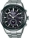 [セイコー]SEIKO 腕時計 SEIKO ASTRON アストロン ソーラー GPS 衛星電波修正 ブライトチタン 黒×白ダイヤル サファイアガラス スーパークリアコーティング 日常生活用強化防水 (10気圧防水) SAST003 メンズ