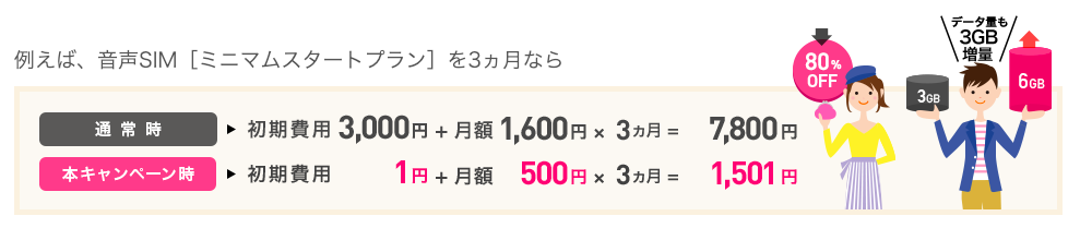 IIJmioキャンペーン3