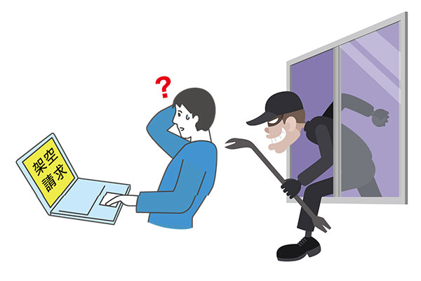 パスワードを盗まれた結果架空請求が届いて驚いている男性