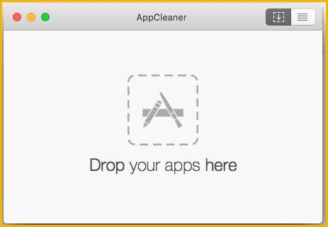 削除したいアプリをドラッグする表示枠