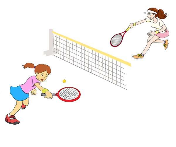 テニスの試合でミスった!