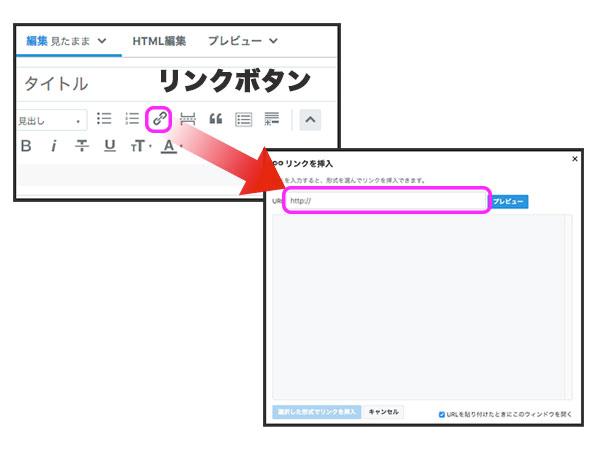 はてなブログでのリンクの貼り方画像