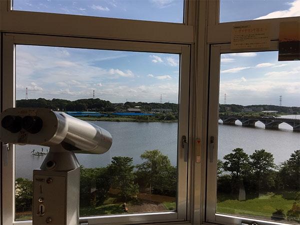 展望台と望遠鏡