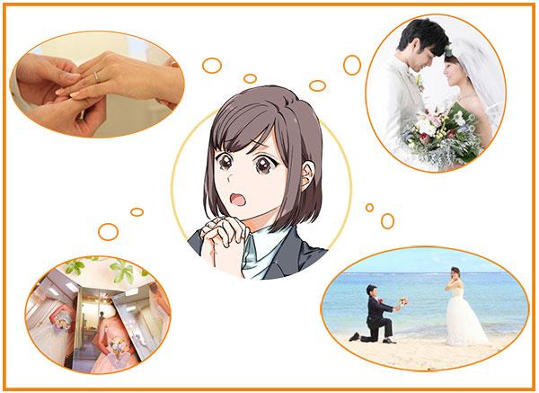 疑似結婚式のイメージを持ち続けている女性
