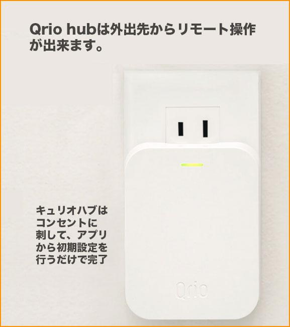 Qrio Hubをコンセントに刺している画像
