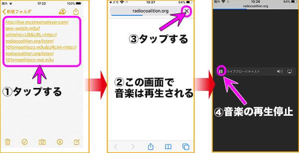 iPhoneにurlの貼り付け手順