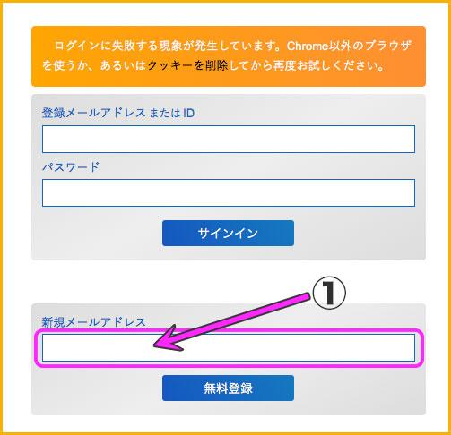 アクセス解析研究所の登録画面