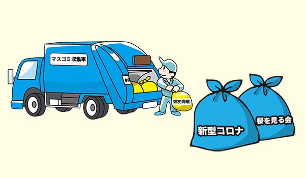ゴミ収集車とマスゴミ