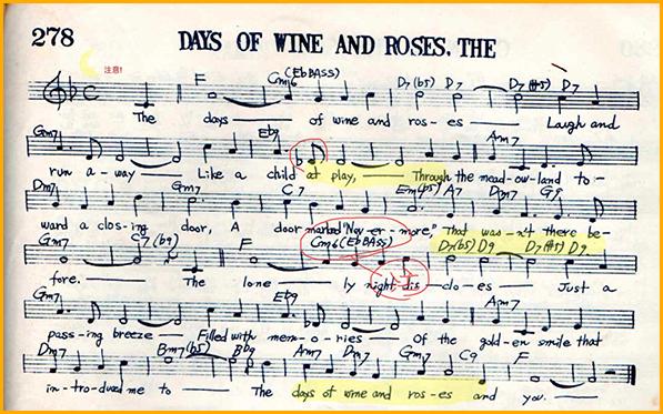 piascoreの楽譜表示と記入例