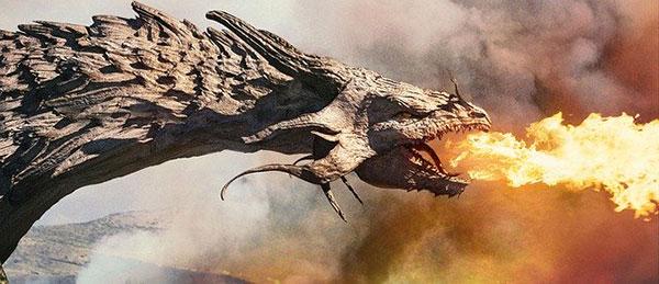 龍が火を吹いているイメージ