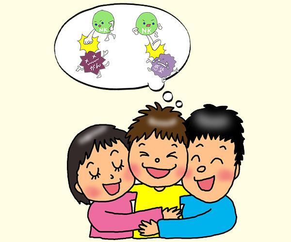 笑いが絶えない家族とNK細胞活性化