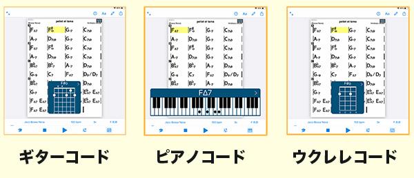 3種類のコード譜