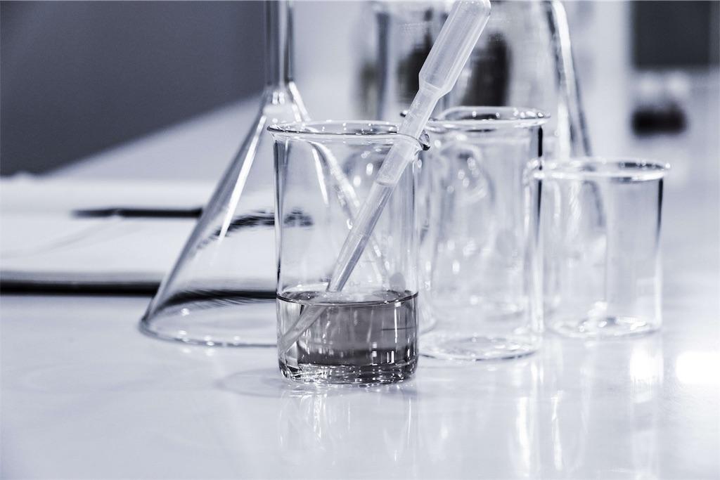実験器具が並んだ清潔な実験室の写真