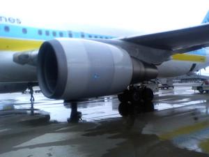 帰りの機体。1