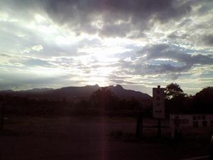 帰りの夕日。
