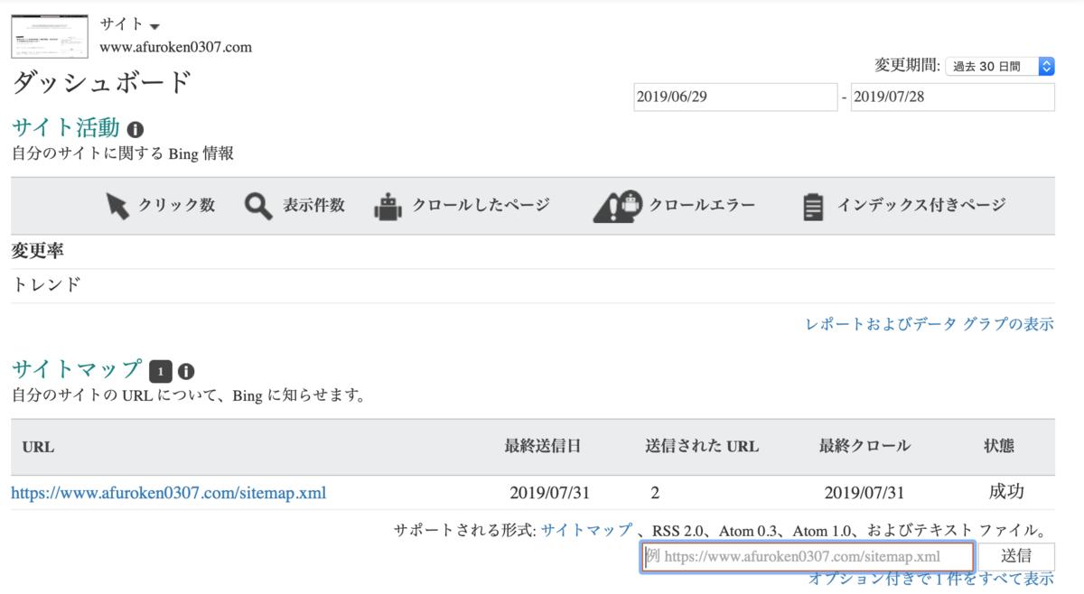 Bing Webマスターツール画像