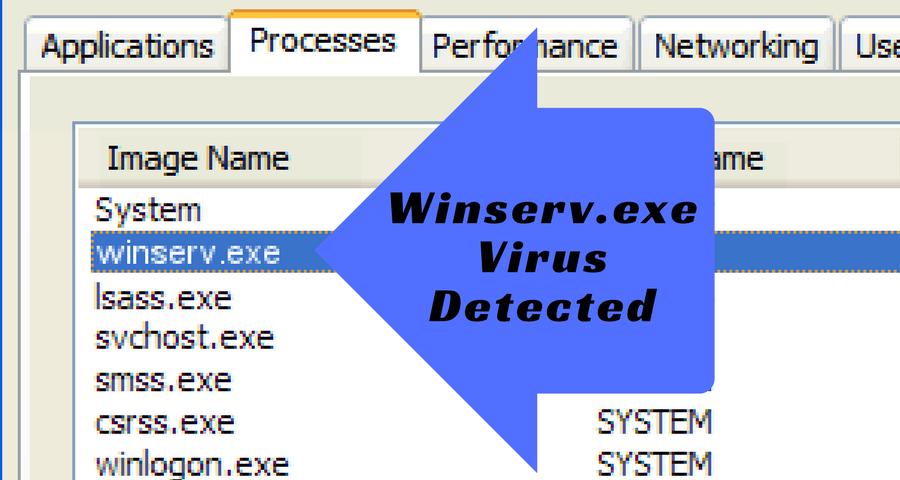 Winserv exe CPU Utility Virus