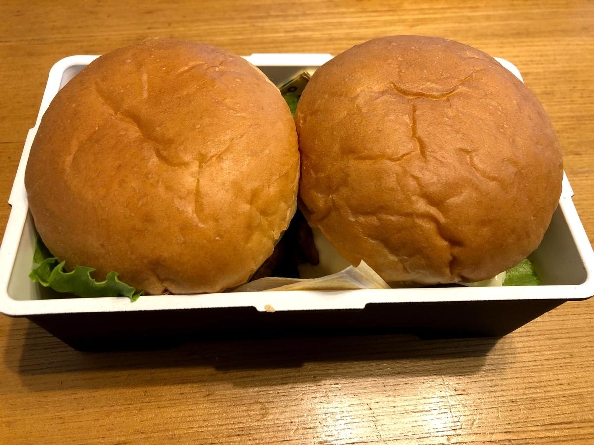 弁当、ハンバーガー
