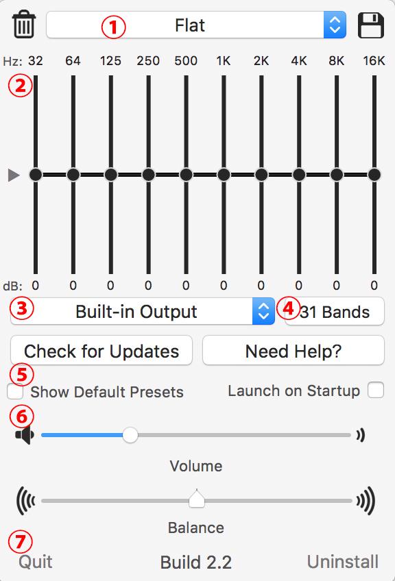 Macの出力音バランスを変えられるイコライザーアプリ「eqMac2