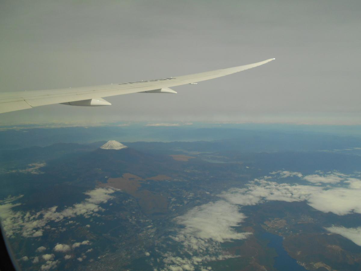 羽田発ジャカルタ行 ANA 富士山