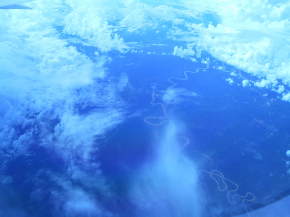 東南アジア 蛇行する川