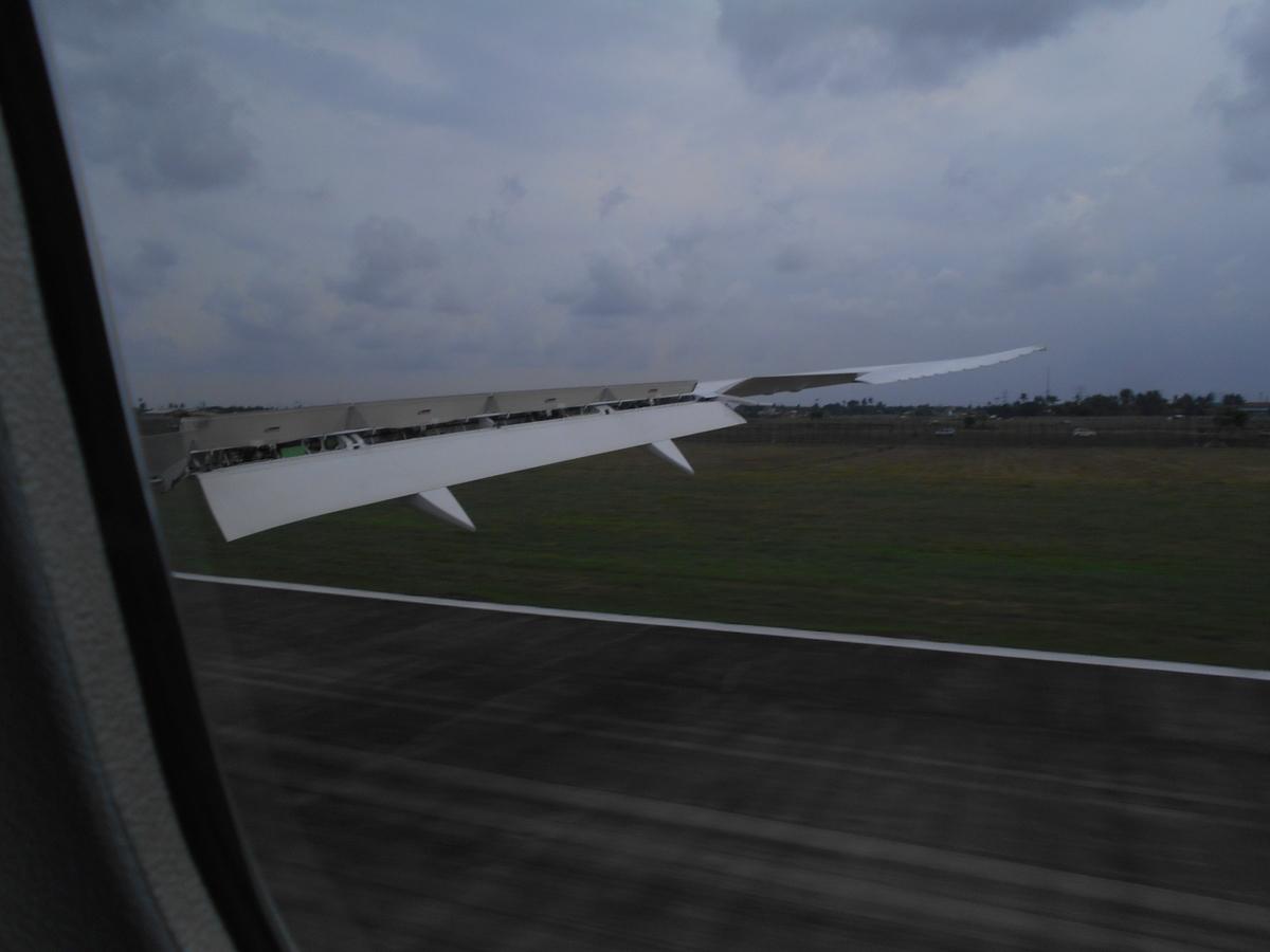 スカルノ・ハッタ国際空港 着陸