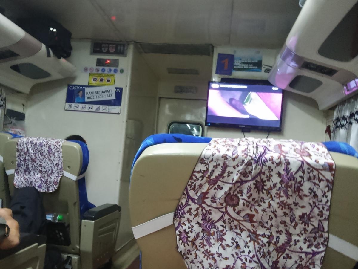 ジョグジャ行き 夜行列車
