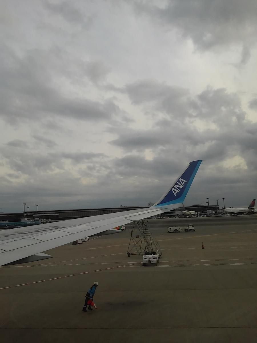 成田空港 着陸 ANA JA821A