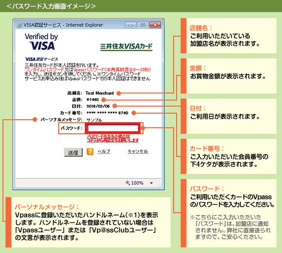 Vpass、本人認証サービス、パスワード