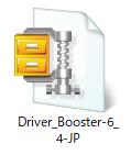 Windows10、DriverBooster6、ZIPファイル解凍