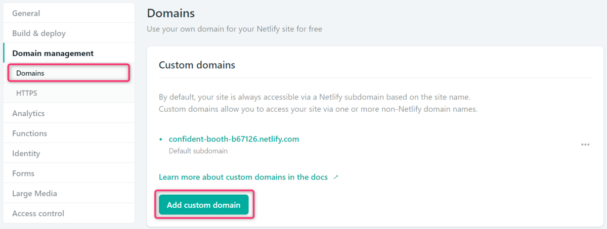 Netlify、CustomDomain