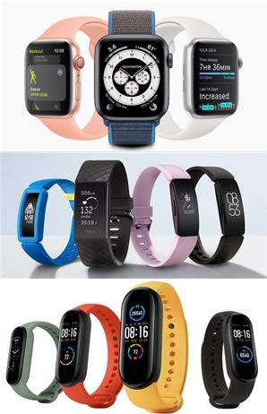 Apple Watch、Fitbit、Mi Band、スマートウォッチ、フィットネストラッカー