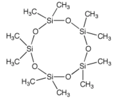 シクロペンタシロキサンの構造