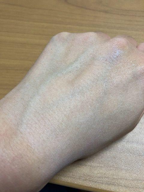 ヒフミド UVプロテクトベース 塗り終わり