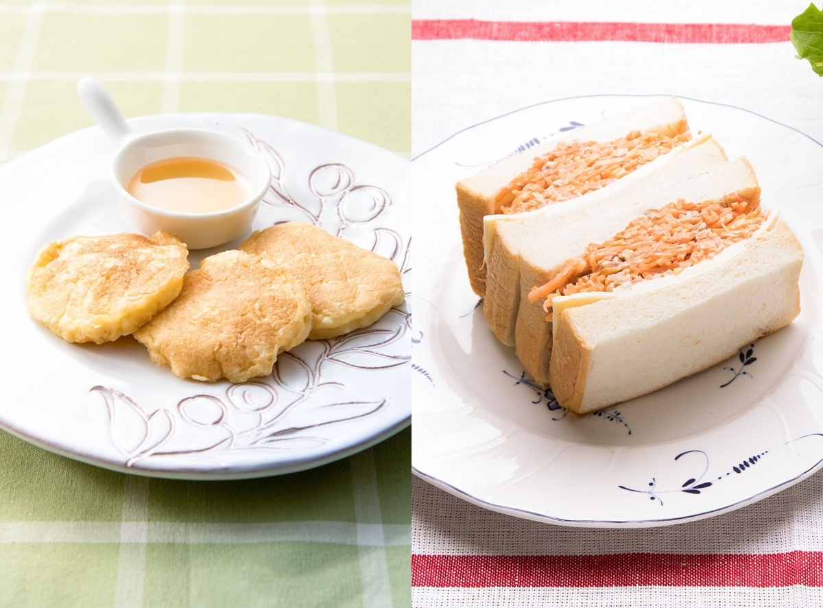 カロリー比較 フレンチトーストとサンドイッチ