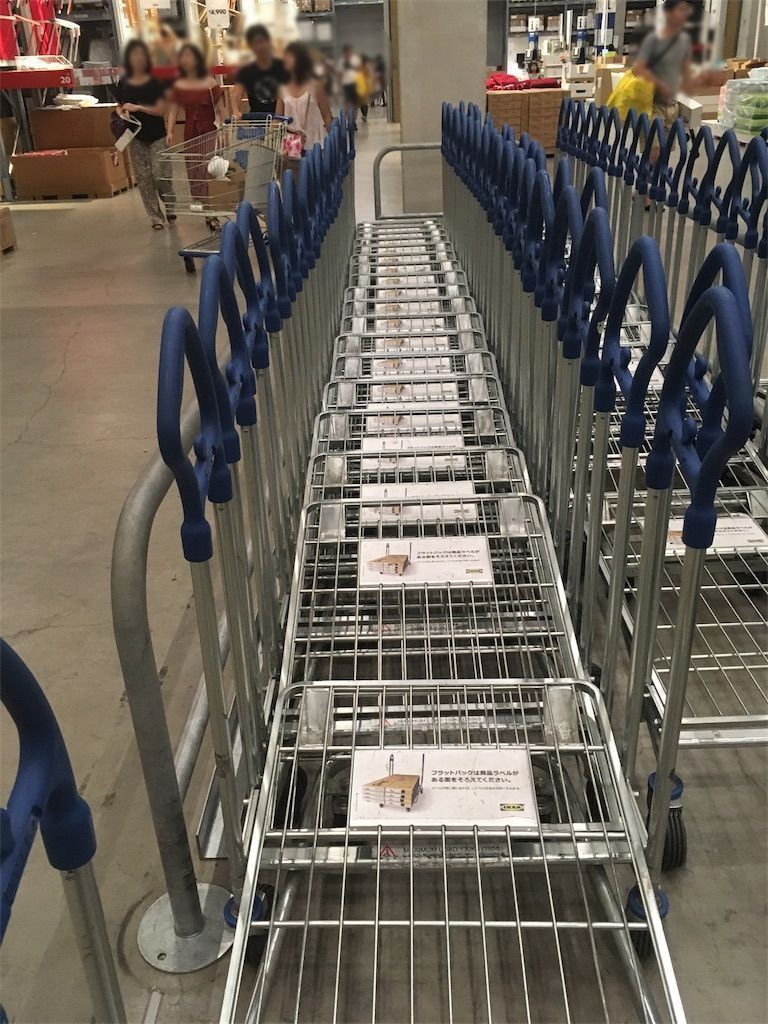 IKEAのセルフサービスエリア
