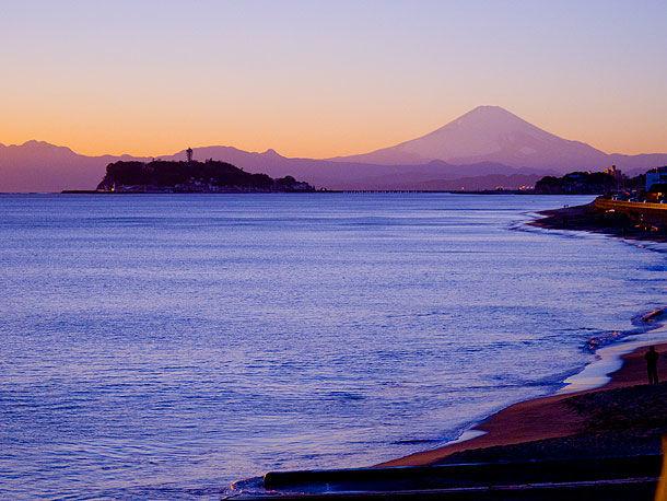 湘南海岸の景色
