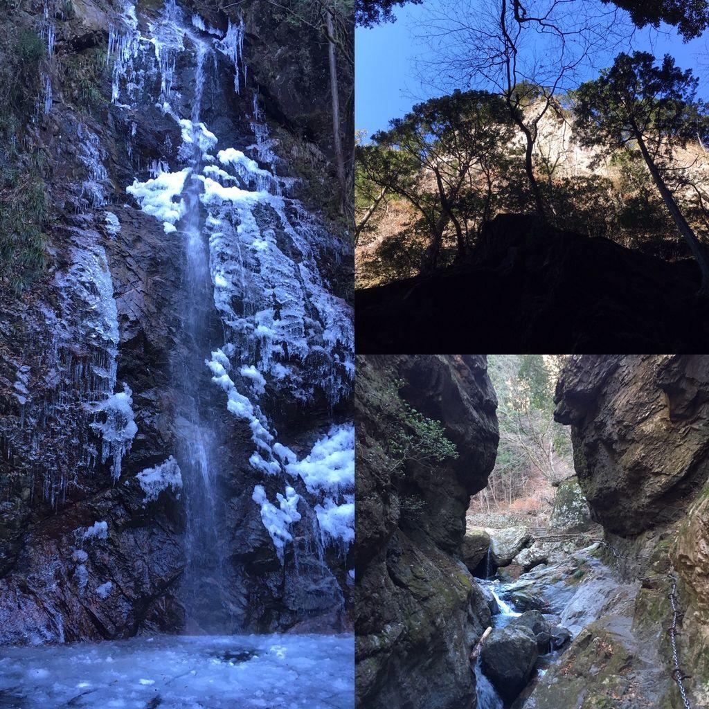 払沢の滝と神戸岩