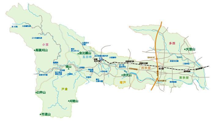 あきる野市の東部に位置する大澄山(だいちょうざん)