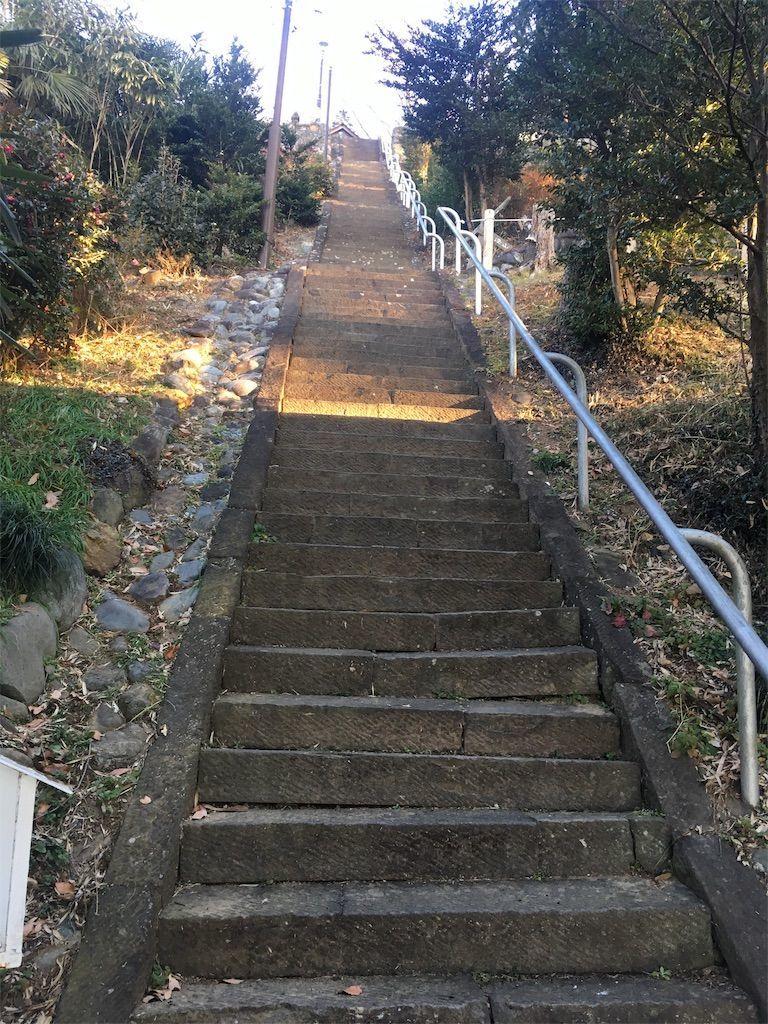 大澄山(だいちょうざん)にある草花神社の参道