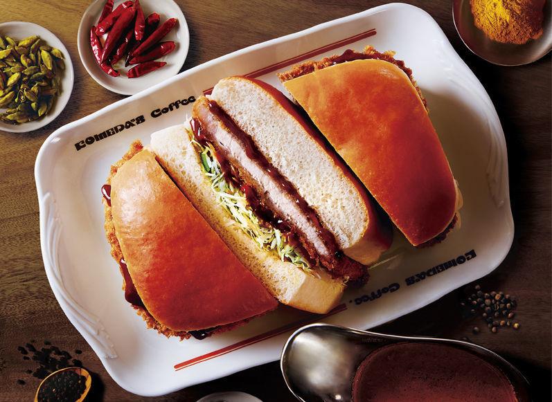 【期間限定】コメダ珈琲のカツカリーパン