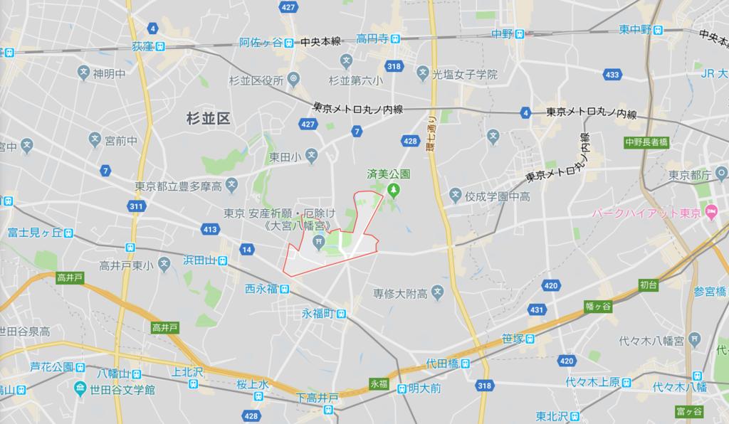 東京都杉並区大宮にあるパワースポット「大宮八幡宮」