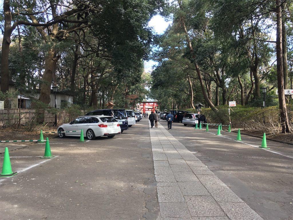 駐車場は正参道(表参道)の両脇