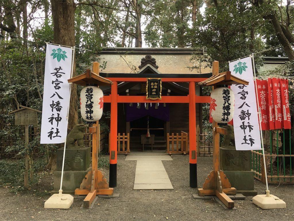 「若宮八幡神社」、「白幡宮」、「御嶽榛名神社」が合祀