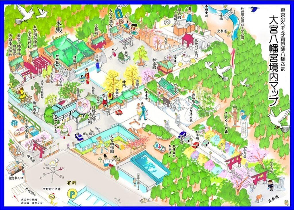 大宮八幡宮の境内マップ