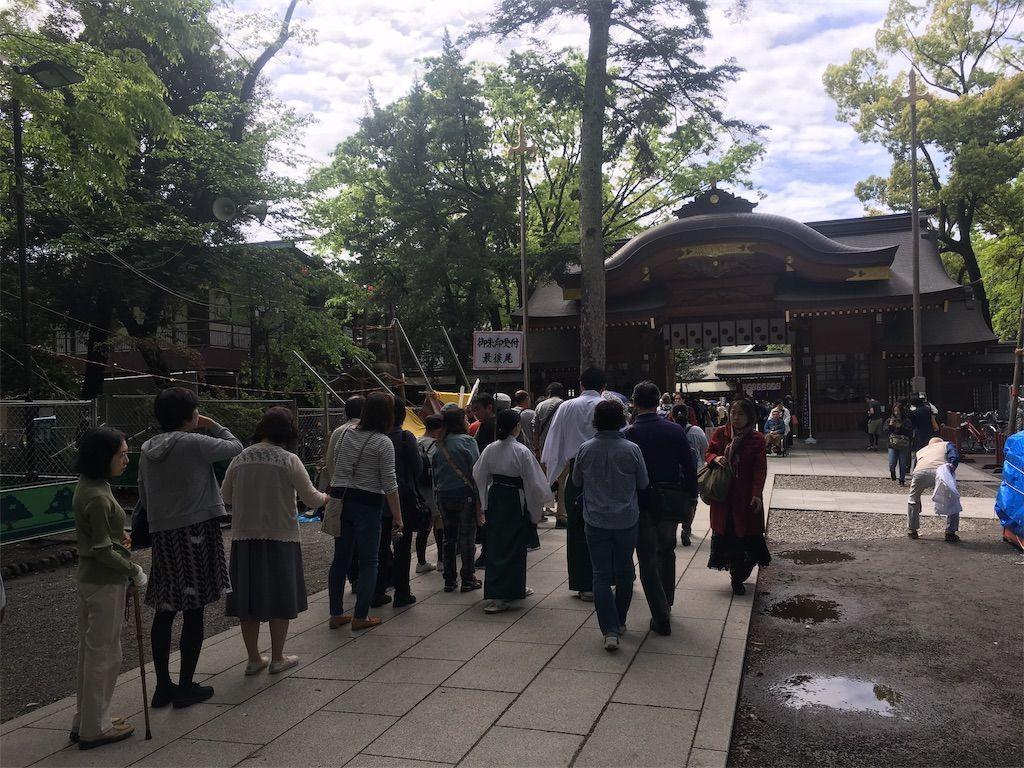 大國魂神社の御朱印の行列