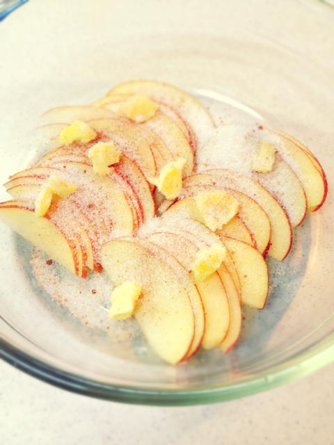 アップルパイのフィリング:加熱前