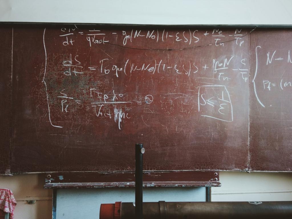 数学講義をする黒板